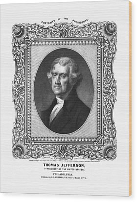 Thomas Jefferson Wood Print by Aged Pixel