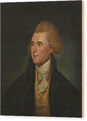 Thomas Jefferson Wood Print by Charles Wilson Peale