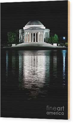 Thomas Jefferson Forever Wood Print by Olivier Le Queinec