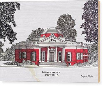 Thomas Jefferson Wood Print by Frederic Kohli