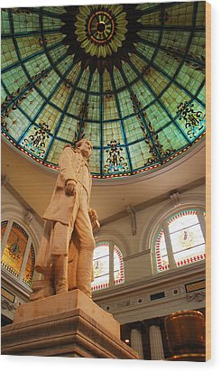Thomas Jefferson Wood Print by James Kirkikis