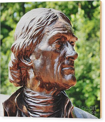Thomas Jefferson Wood Print by Judy Palkimas