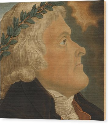 Thomas Jefferson Wood Print by Michael Sokolnicki