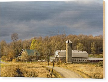 Thompson Point Dairy Wood Print by Jeremy Farnsworth