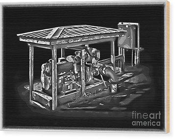Thompson Pump 2 Wood Print by Walt Foegelle