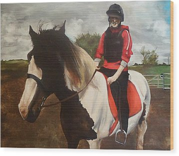 Wood Print featuring the painting Thompsons Horse by Cherise Foster