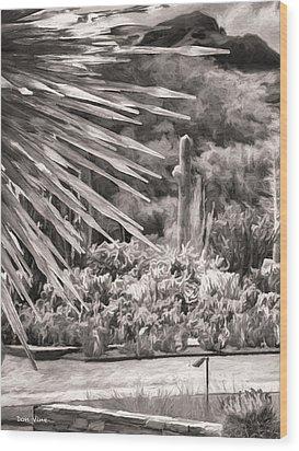 Thorns Of Glass  Bw Wood Print