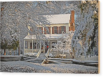 Wood Print featuring the photograph Thorntree In Snow by Linda Brown