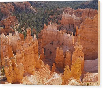 Thor's Hammer At Bryce Canyon In Utah Wood Print by Alex Cassels