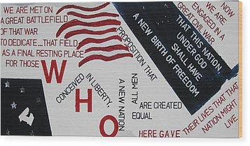 Those Who Gave Their Lives Wood Print by Lawrence  Dugan