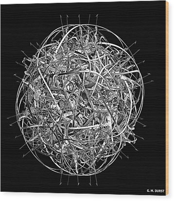 Thought Wood Print by Michael Durst