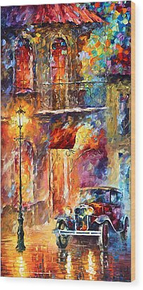 Thoughts Of My Ancestors  Wood Print by Leonid Afremov