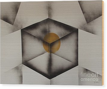 Thoughts Outside The Box. Wood Print by Kenneth Clarke