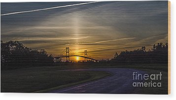 Thousand Islands Bridge At Sunset Wood Print