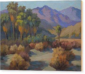 Thousand Palms Wood Print by Diane McClary