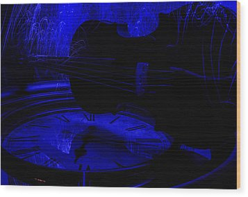 Thr Blues Wood Print