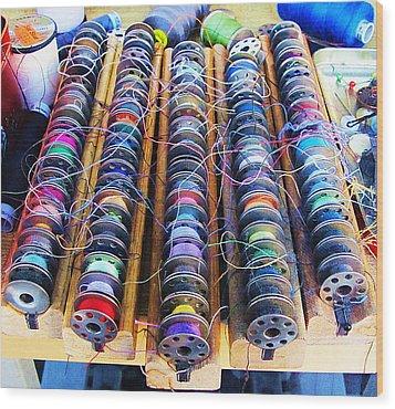 Threads I Wood Print by John King