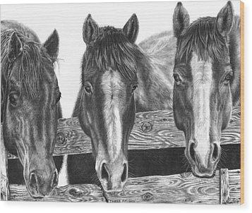 Three Amigos Wood Print by Glen Powell