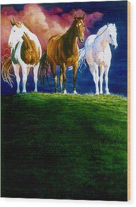 Three Amigos Wood Print by Hanne Lore Koehler