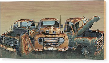 Three Amigos Wood Print by John Wyckoff