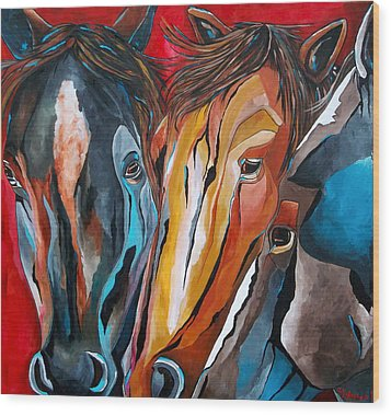 Three Amigos Wood Print by Patti Schermerhorn