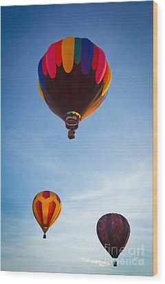 Three Balloons Wood Print by Inge Johnsson