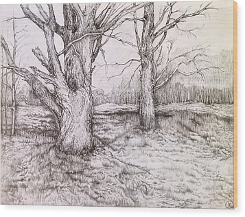 Three Days Before Winter Wood Print