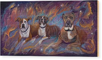 If Dogs Go To Heaven Wood Print by Sherry Strong