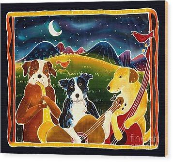 Three Dog Night Wood Print by Harriet Peck Taylor