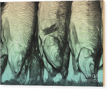 Three Fish Wood Print by Gregory Dyer