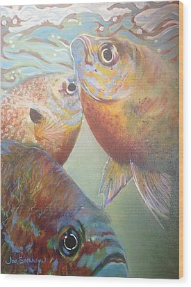 Three Fish Wood Print by Jan Swaren