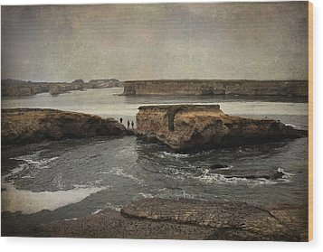 Three Fishermen Wood Print by Laurie Search
