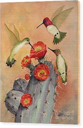 Three For Breakfast Wood Print by Marilyn Smith