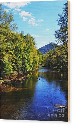 Three Forks Williams River Early Fall Wood Print