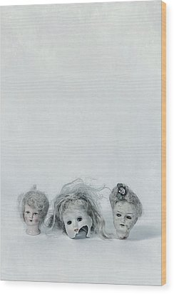 Three Heads Wood Print by Joana Kruse