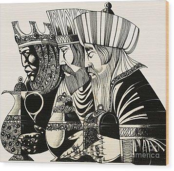 Three Kings Wood Print by Richard Hook