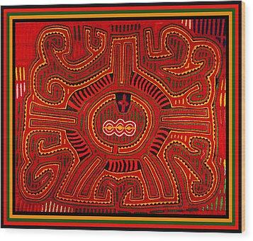 Wood Print featuring the digital art Three Layers Of The World by Vagabond Folk Art - Virginia Vivier