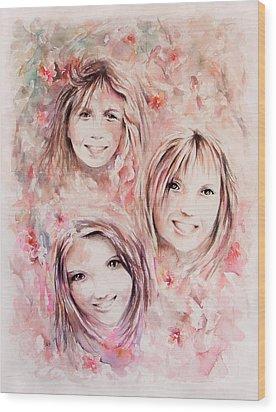 Three Miracles Wood Print by Rachel Christine Nowicki