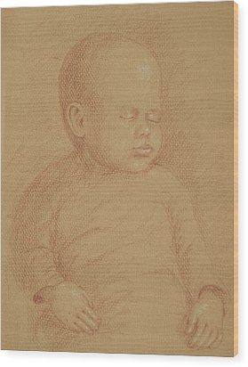 Three Months Old Wood Print by Deborah Dendler