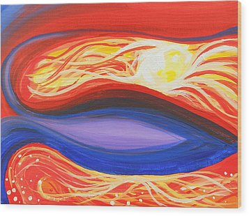 Three Mountains Under One Sun Panel Number One Wood Print by David Keenan