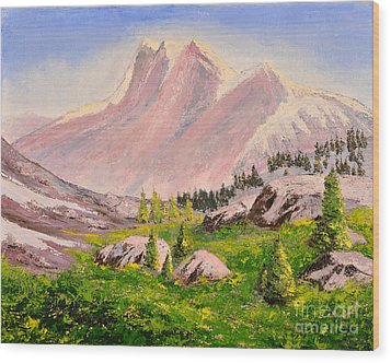 Three Peaks Wood Print