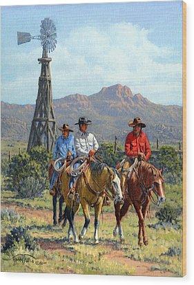 Three Riders Wood Print by Randy Follis