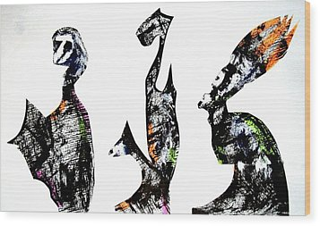 Three Roman Egyptians Wood Print by Aquira Kusume