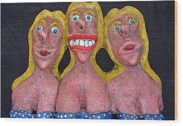 Three Sisters Wood Print by Charles Spillar