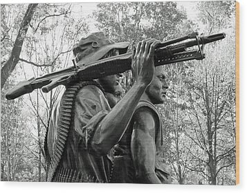 Three Soldiers In Vietnam Wood Print