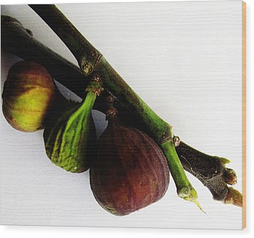 Three Stages Till Fully Ripe Wood Print by Tina M Wenger