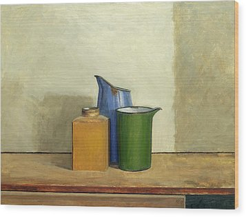 Three Tins Together Wood Print by William Packer