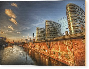 Three Towers Berlin Wood Print by Nathan Wright