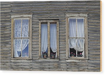 Three Windows Wood Print