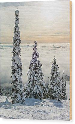 Three Wise Men Wood Print by Aaron Aldrich